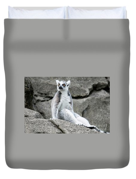 Lemur The Cutie Duvet Cover