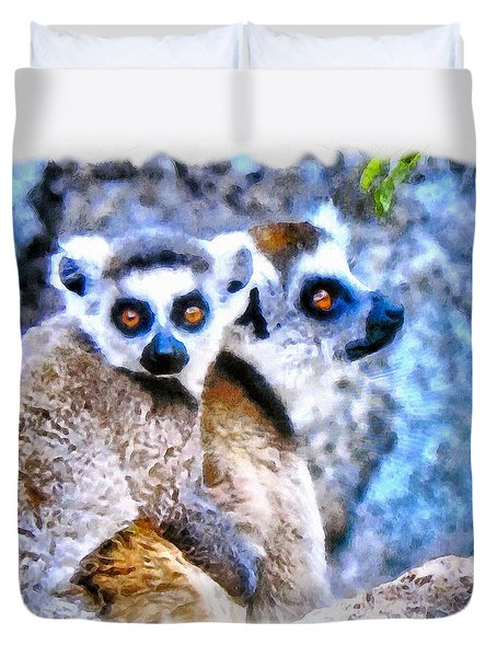 Lemurs Of Madagascar Duvet Cover by Maciek Froncisz
