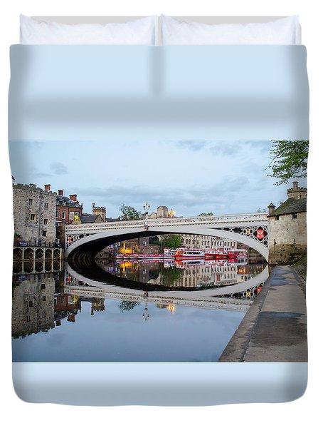 Lendal Bridge Reflection  Duvet Cover