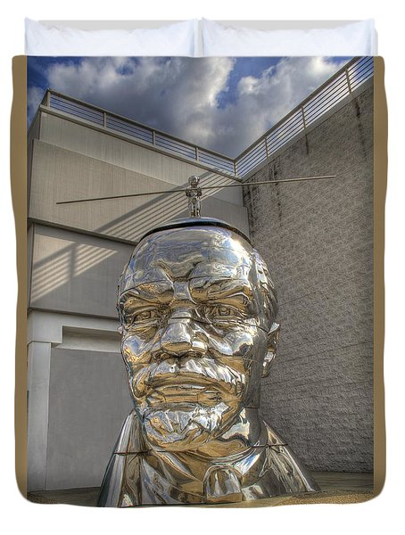Lenin On La Brea Duvet Cover