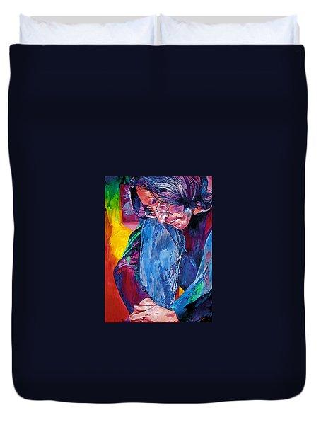 Lennon In Repose Duvet Cover