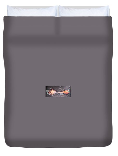 Lenny The Lipster Fish Duvet Cover by Dan Townsend