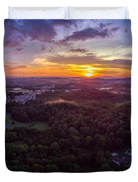Lenoir North Carolina  Sunset Duvet Cover