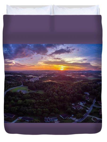 Lenoir North Carolina  Sunset Duvet Cover