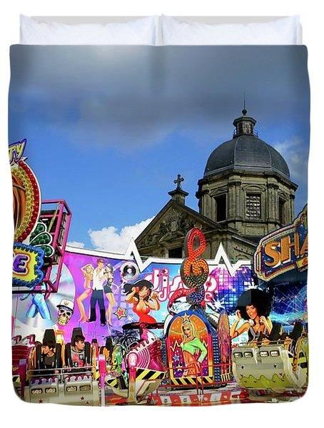 Lenten Carnival Duvet Cover