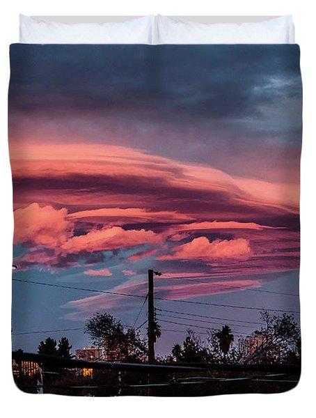 Lenticular Cloud Las Vegas Duvet Cover