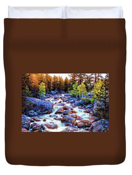 Leo Falls Duvet Cover