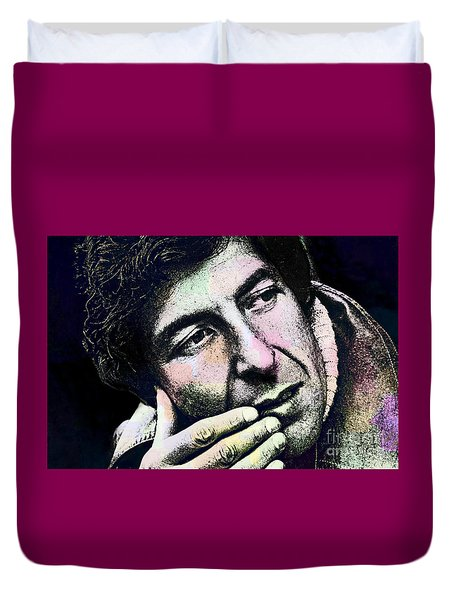 Leonard Cohen - Drawing Tribute Duvet Cover