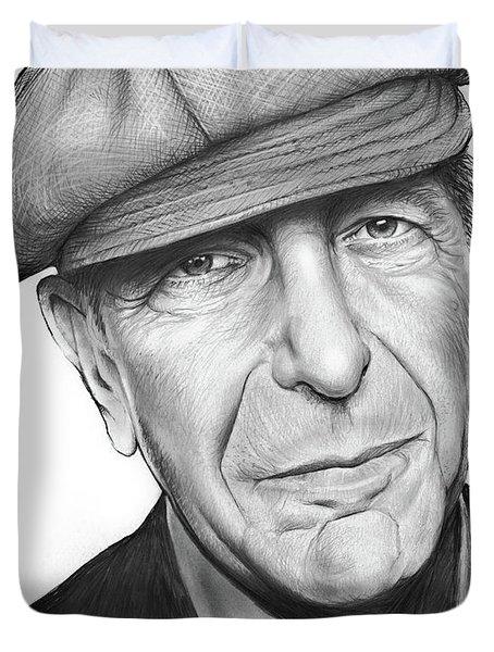 Leonard Cohen Duvet Cover