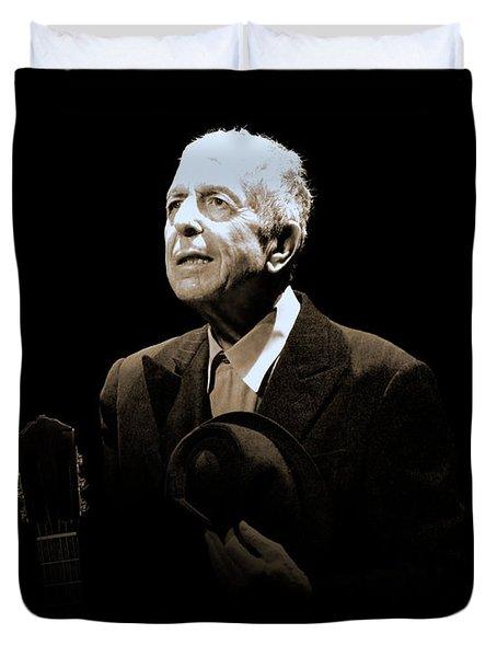 Portrait Of Leonard Cohen Duvet Cover