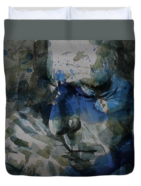 Leonard Cohen - It Goes Like This The Fourth The Fifth Duvet Cover