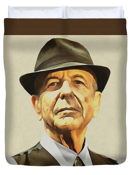 Leonard Cohen Duvet Cover by Sergey Lukashin