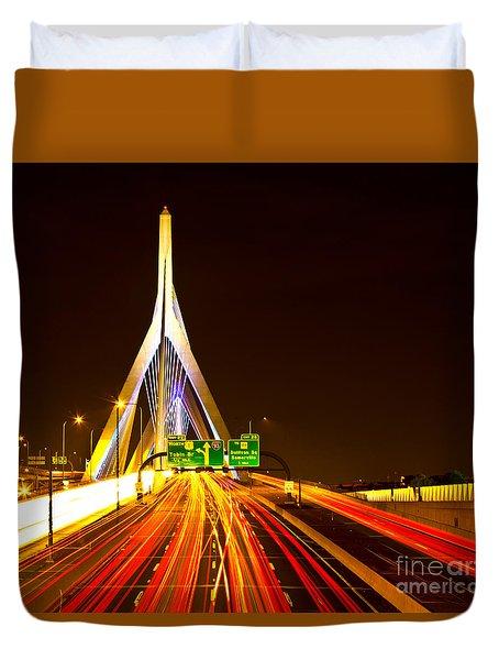 Leonard P. Zakim Bunker Hill Bridge  Duvet Cover