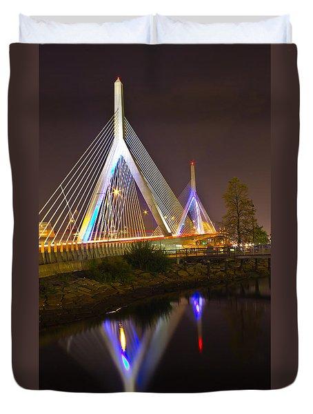 Leonard P. Zakim Bunker Hill Bridge Reflection Duvet Cover