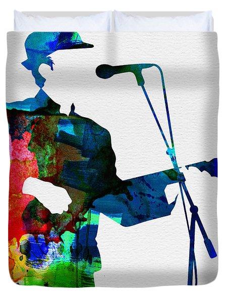 Leonard Watercolor Duvet Cover