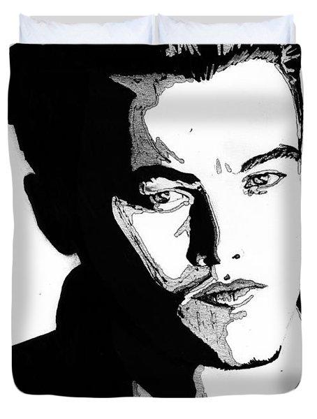 Leonardo Dicaprio Portrait Duvet Cover by Alban Dizdari