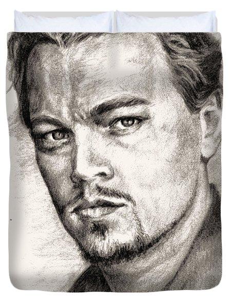 Leonardo Dicaprio Portrait Nr.2 Duvet Cover by Alban Dizdari