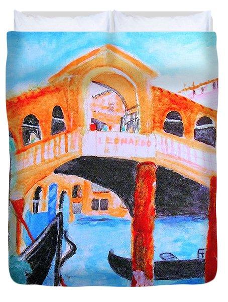 Leonardo Festival Of Venice Duvet Cover
