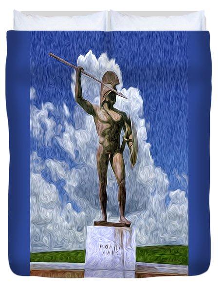Leonidas At Thermopylae Ver 1 Duvet Cover