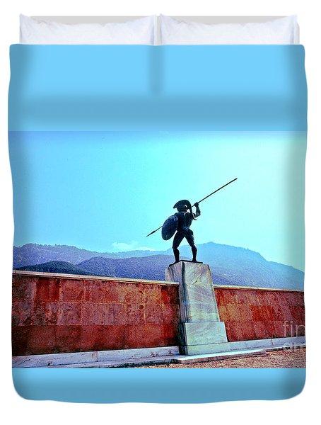 Leonidas At Thermopylae Ver 4 Duvet Cover