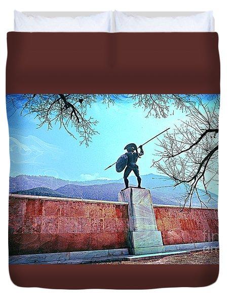 Leonidas At Thermopylae Ver 5 Duvet Cover