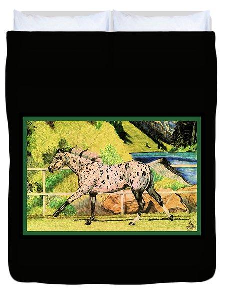 Leopard Appaloosa - Dream Horse Series Duvet Cover