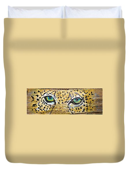 Leopard Eyes Duvet Cover