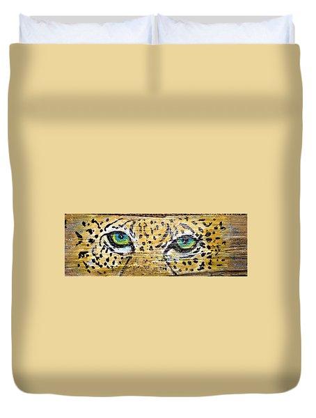 Leopard Eyes Duvet Cover