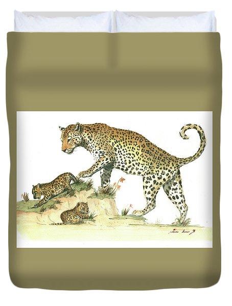 Leopard Family Duvet Cover