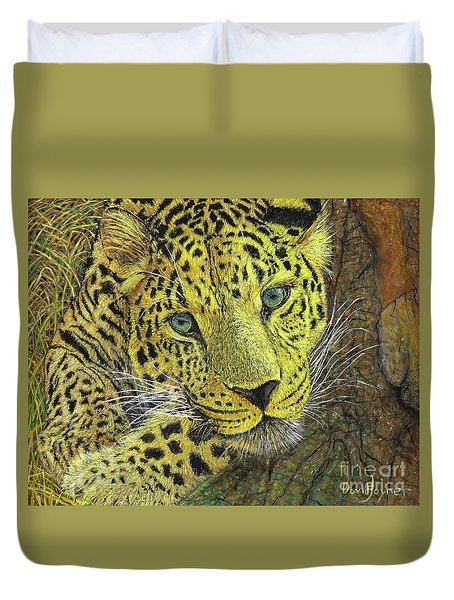 Leopard Gaze Duvet Cover