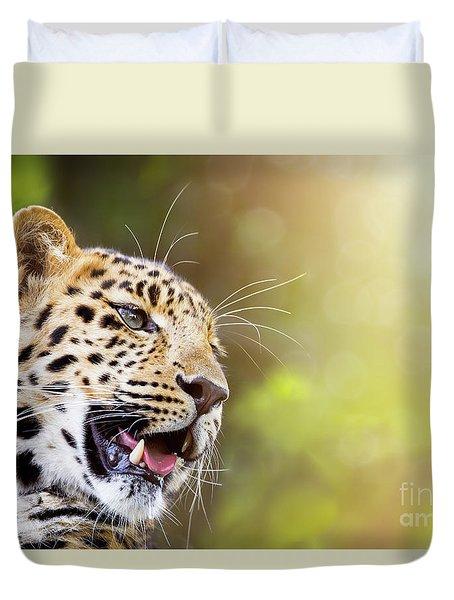 Leopard In Sunlight Duvet Cover