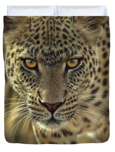 Leopard - On The Prowl Duvet Cover