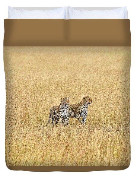 Leopard Pair Duvet Cover