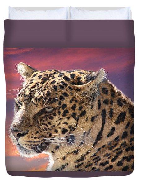 Leopard Portrait Duvet Cover