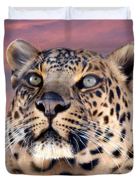 Leopard Portrait Number 3 Duvet Cover