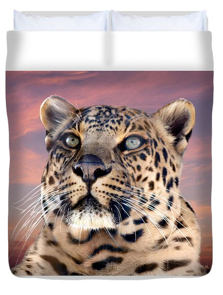 Leopard Portrait Number 3 Duvet Cover