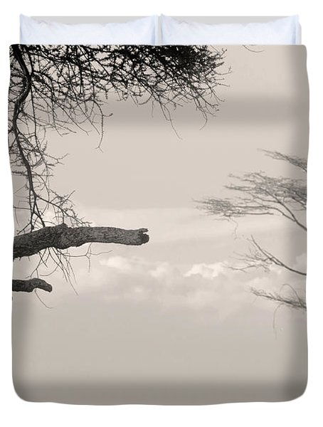 Leopard Resting On A Tree Duvet Cover