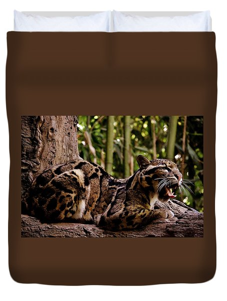 Leopard Yawn Duvet Cover