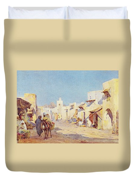 Duvet Cover featuring the photograph Leopold Carl Muller 1887 by Munir Alawi