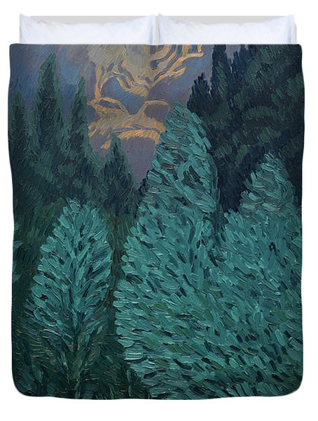 Les Alycamps And The Starry Night Duvet Cover