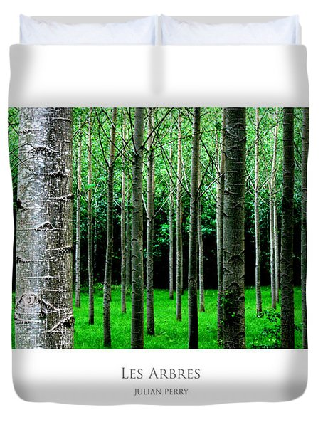 Duvet Cover featuring the digital art Les Arbres by Julian Perry