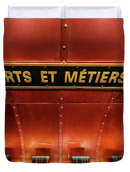 Les Arts Et Metiers, Metro Station, Paris, France. Duvet Cover