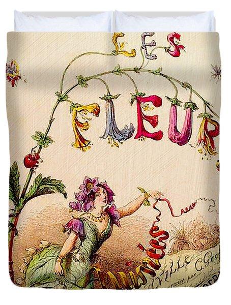 Les Fleurs Duvet Cover by Bonnie Bruno