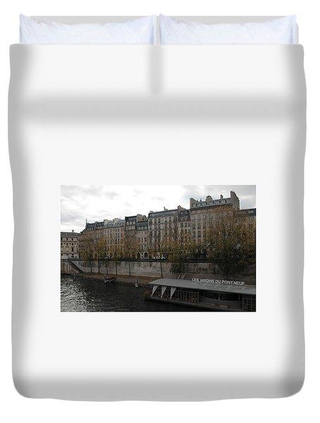 Les Jardins Du Pont Neuf Duvet Cover