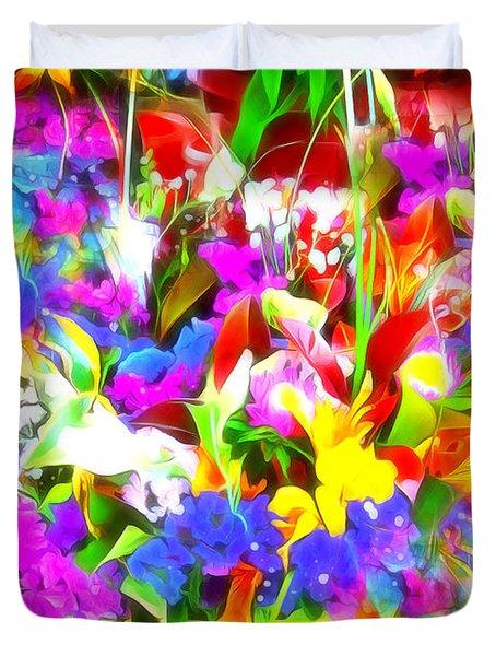 Les Jolies Fleurs Duvet Cover