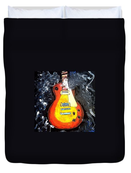Les Paul Live Duvet Cover