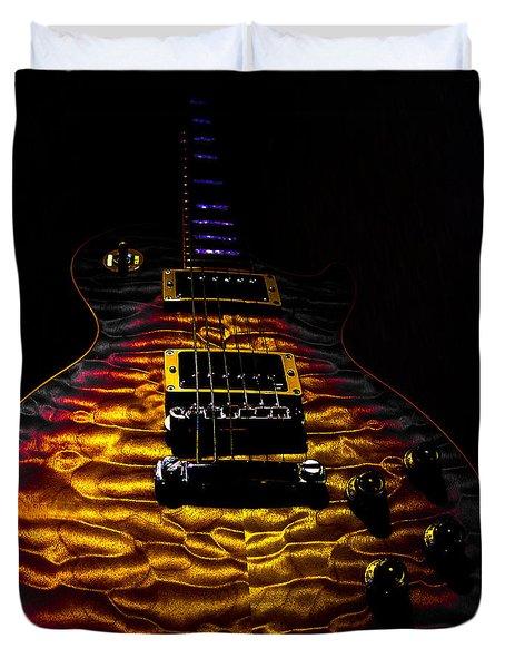 Tri-burst Quilt Top Guitar Spotlight Series Duvet Cover