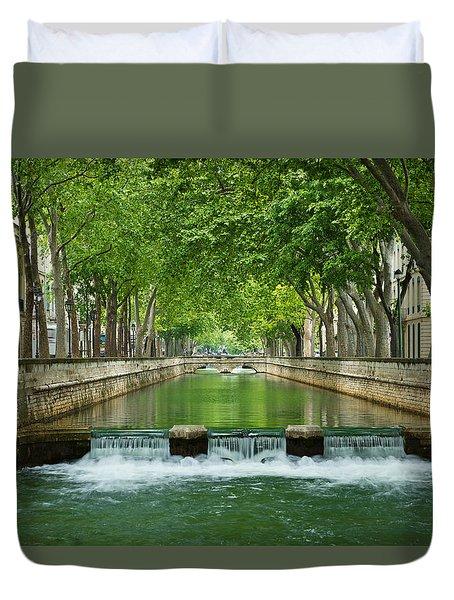 Les Quais De La Fontaine Duvet Cover by Scott Carruthers
