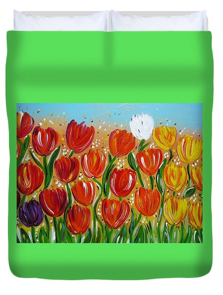 Les Tulipes - The Tulips Duvet Cover