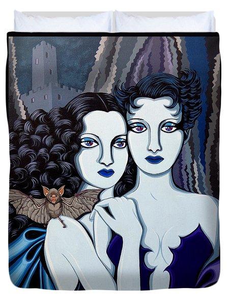 Les Vamperes Bleu Duvet Cover